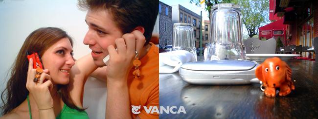 vanca 本革携帯犬ストラップ プチワンちゃん レザードッグ handmade leather dog phone charm